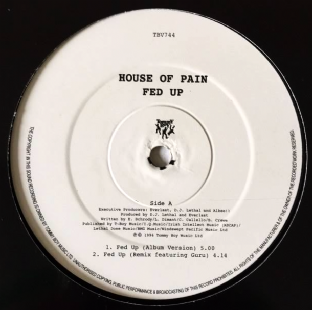 "House Of Pain ‎- Fed Up (12"") (G/EX+)"
